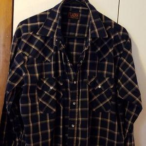 Western wear long sleeved shirt size L